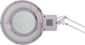 Фото 1/5 31-0001, Лупа на струбцине круглая настольная 3Х с подсветкой, белая