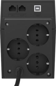Фото 1/2 RPT-800AP EURO, Источник бесперебойного питания (ИБП/UPS), 800ВА/480Вт, Schuko, USB, line-interactive, черный
