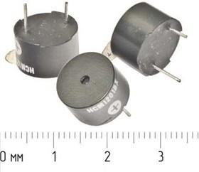 Излучатель звука магнитоэлектрический со встроенным генератором 1.5В, 12x8мм частота 3.1кГц згм 12x 8\ 1,5\\3,1\2P7,6\HCM1201BX\