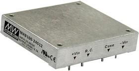 MHB100-24S24, DC/DC преобразователь, 100Вт, вход 18-36В, выход 24В/4.17А