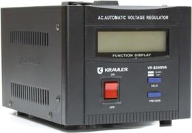 VR-S2000VA (B), Стабилизатор напряжения электромеханический, 220В, 2000ВА (черный)