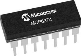 Фото 1/3 MCP6274-E/P, Op Amp Quad GP R-R I/O 5.5V Automotive 14-Pin PDIP Tube
