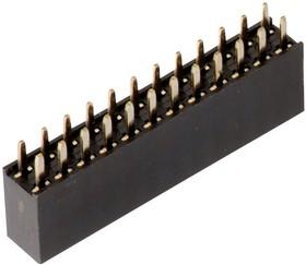61304021821, Разъем типа плата-плата, 2.54 мм, 40 контакт(-ов), Гнездо, WR-PHD Series, Сквозное Отверстие
