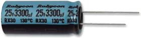 10RX301000MCA10X20, Электролитический конденсатор, миниатюрный, 1000 мкФ, 10 В, Серия RX30, ± 20%, Радиальные Выводы