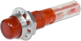 IND515205-640-T/RD, Лампа накаливания, 6.35 мм, 40 мА, 6 В, Круглая с Плоским Верхом