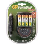 PB50GS270CA-2CR4, Устройство зарядное GP + 4 AA(2700мА*ч) + адаптер для автомобиля