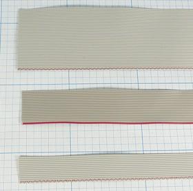 Кабель плоский (шлейф) 26жил,шаг 1.0мм, серый, каб шлейф\26x0,127\ P1,0\сер\RC-1-26\