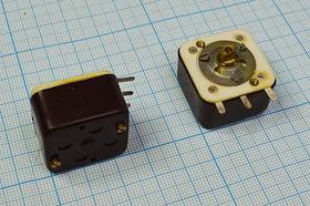 Фото 1/2 Конденсатор переменный, с трещинами на корпусе, № 7242 конд перем\10~240пФ\ \3C\\2-секции