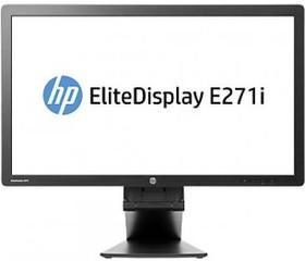 """Монитор ЖК HP EliteDisplay E271i 27"""", серебристый и черный [d7z72aa]"""