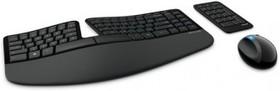 Комплект (клавиатура+мышь) MICROSOFT Sculpt Ergonomic, USB, беспроводной, черный [l5v-00017]