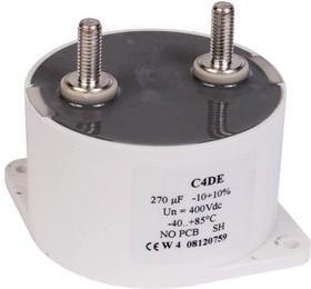 Фото 1/2 C4DEIPQ6100A8TK, DC Пленочный Конденсатор, 100 мкФ, 800 В, Metallized PP, ± 10%, C4DE Series