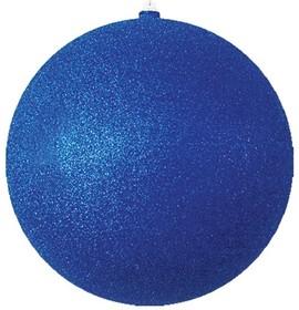 """502-133, Елочная фигура """"Шарик"""", 20 см, цвет синий"""