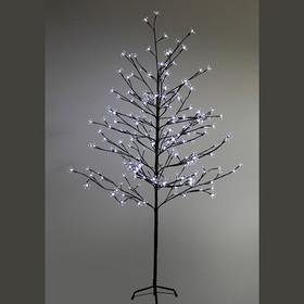 """531-265, Дерево комнатное """"Сакура"""", коричневый цвет ствола и веток, высота 1.5 метра, 120 светодиодов белого"""
