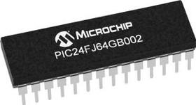 Фото 1/2 PIC24FJ64GB002-I/SP, MCU 16-bit PIC RISC 64KB Flash 2.5V/3.3V Automotive 28-Pin SPDIP Tube