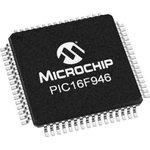 Фото 4/4 PIC16F946-I/PT, Микроконтроллер 8-Бит, PIC, 20МГц, 14КБ (8Кx14) Flash, с LCD драйвером, 53 I/O [TQFP-64]