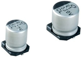 UCL1E101MCL1GS, Cap Aluminum Lytic 100uF 25V 20% (6.3 X 7.7mm) SMD 600mA 2000h 105°C Automotive T/R