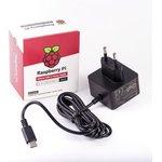 Фото 4/4 Official Raspberry Pi 4 Power Supply Black, Блок питания для Raspberry Pi 4, 5.1В, 3A, USB-C (вилка EU) блок питания