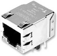5-6605308-1, Розетка 8P8C (RJ45) на плату экранированная