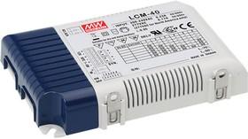 LCM-40, AC/DC LED, 2...100В,0.35... 1.05А,42Вт,IP20 блок питания для светодиодного освещения