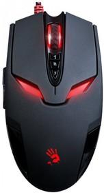 Мышь A4 Bloody V4ma Metal Activated оптическая проводная USB, черный и красный