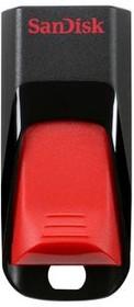 Флешка USB SANDISK Cruzer Edge 64Гб, USB2.0, черный и красный [sdcz51-064g-b35]