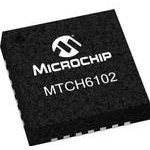 Фото 2/2 MTCH6102-I/MV, Touch Screen Controller, Projected Capacitive, I2C, 400kbps, 12bit, 1.8V to 3.6V Supply, UQFN-28