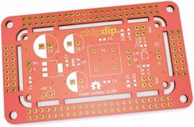 Печатная плата crystal oscillator 12288, Печатная плата с разводкой, FR4 75х45мм (1.5мм, 18мкм)