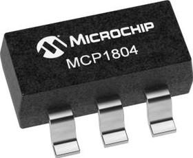 Фото 1/3 MCP1804T-3302I/OT, LDO Regulator Pos 3.3V 0.15A 5-Pin SOT-23 T/R