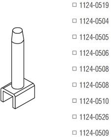 1124-0510, Картридж-наконечник для TD-100, демонтаж TSOP 28, 12х8.5мм