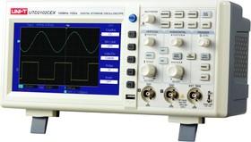 UTD2102CEX, Осциллограф цифровой, 2 канала х 100МГц, USB, цветной дисплей