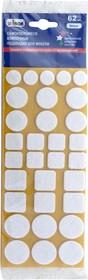 Фото 1/2 39479, Самоклеящиеся войлочные подкладки для мебели, белые, 62 шт