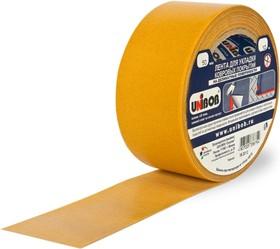 46499, Лента клейкая двухсторонняя для деликатных поверхностей 50мм х 10м (ткань)
