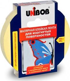 Фото 1/2 51469, Лента малярная для изогнутых поверхностей 19 мм х 25 м (желтая)