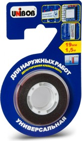 Фото 1/2 56645, Лента клейкая двухсторонняя для наружных работ 19 мм х 1,5 м (пена)