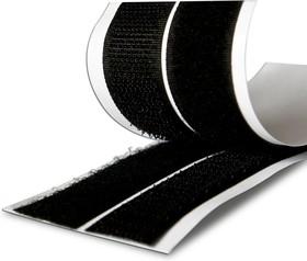 Фото 1/2 49310, Самоклеящаяся лента липучка 20мм х 1м, черная