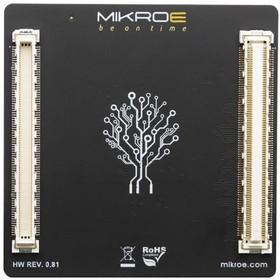 MIKROE-3523, Add-On Board, MikroE MCU Card 7, STM32F030RC MCU, 2 x 168-Pin Mezzanine Connector