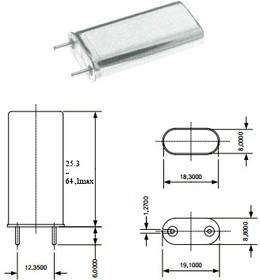 кварцевый резонатор 240кГц в корпусе БА1=HC13U, 240 \HC13U\\\\БА1\1Г высокие(19x30)