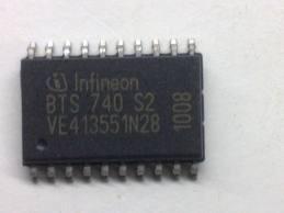 Фото 1/4 BTS740S2, Интеллектуальный ключ, PROFET, 2-канала (каждый 5.5А 30мОм) [P-DSO-20-9]