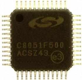 C8051F500-IQ, Микроконтроллер 8-Бит, 8051, Mixed-Signal, 50МГц, 64КБ (64Кx8) Flash, 40 I/O [QFP48]