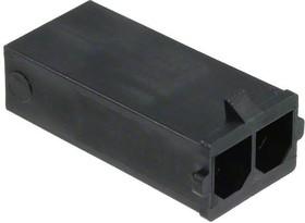 0436802002, Conn Housing M 2 POS 7.49mm Crimp ST Cable Mount Black Sabre™ Bag