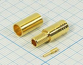 Штекер SMB на кабель RG58 обжимной, позолоченный , 9757 шт SMB\RG58\\обж\зол