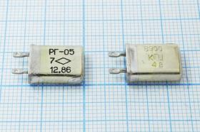 Фото 1/4 кварцевый резонатор 6.9МГц в корпусе с жёсткими выводами МВ, 6900 \МВ\\\\РГ05МВ\1Г