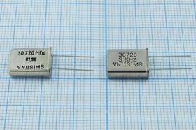 Фото 1/4 Кварц 30.72МГц в корпусе HC49U, расширенный интервал -40~70С, без нагрузки, 3-ья гармоника, 30720 \HC49U\S\ 15\ 30/-40~70C\РПК01МД-6ВС\3Г