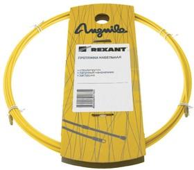 Фото 1/2 27-1040, Протяжка кабельная (мини УЗК в бухте), 40м, стеклопруток, d=3мм, латунный наконечник, заглушка