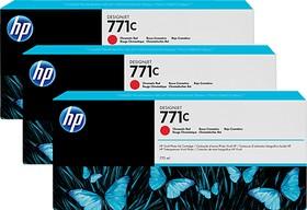 Тройная упаковка картриджей HP 771C B6Y32A, хроматический красный