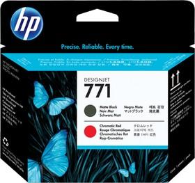 Печатающая головка HP CE017A черный матовый / хроматический красный