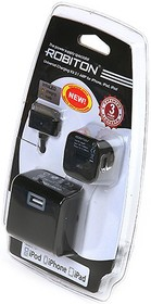 Фото 1/2 App03, Блок питания универсальный для iPhone, iPad, iPod, 2100мА (+ кабель передачи данных)(адаптер)