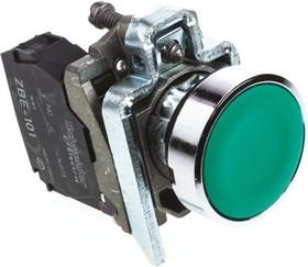 Кнопка зеленая без фиксации 22 мм 1но