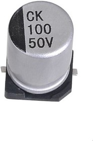 ECAP SMD, 10 мкФ, 25 В, 105°C, 20% 4x5.4мм, Конденсатор электролитический алюминиевый SMD