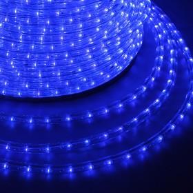 121-123-3, Дюралайт LED, постоянное свечение (2W) - синий, 24 LED/м, ø10мм, бухта 100м